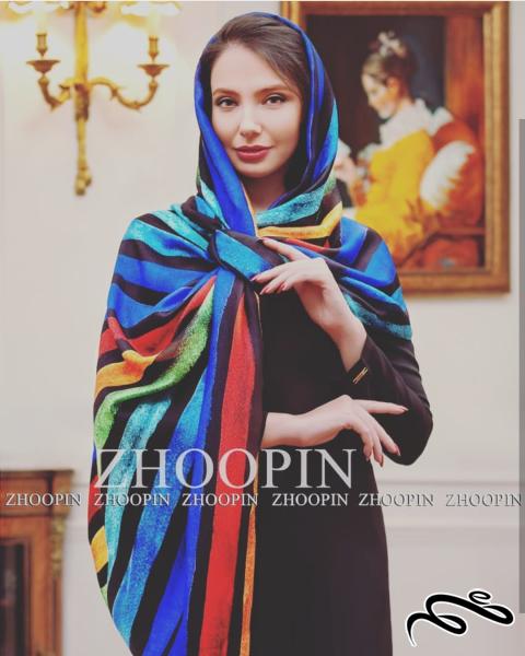 شال نخی تک رنگ - طرح و رنگ vip  